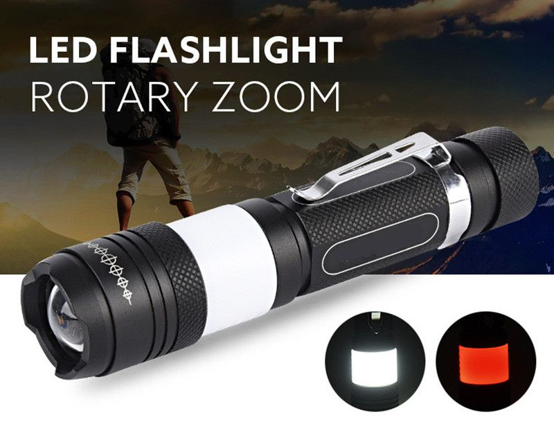 Powerful led flashlight USB CREE XML T6 18650 rechargeable battery waterproof Portable led Torch Camping flash light