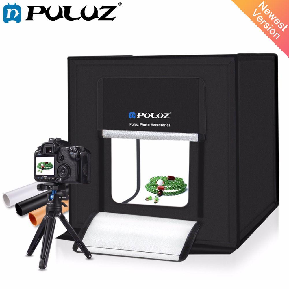 PULUZ 40*40cm 16inc light Photo Studio box Mini photo studio photograghy Softbox Led Photo Lighting Studio Shooting Tent Box Kit
