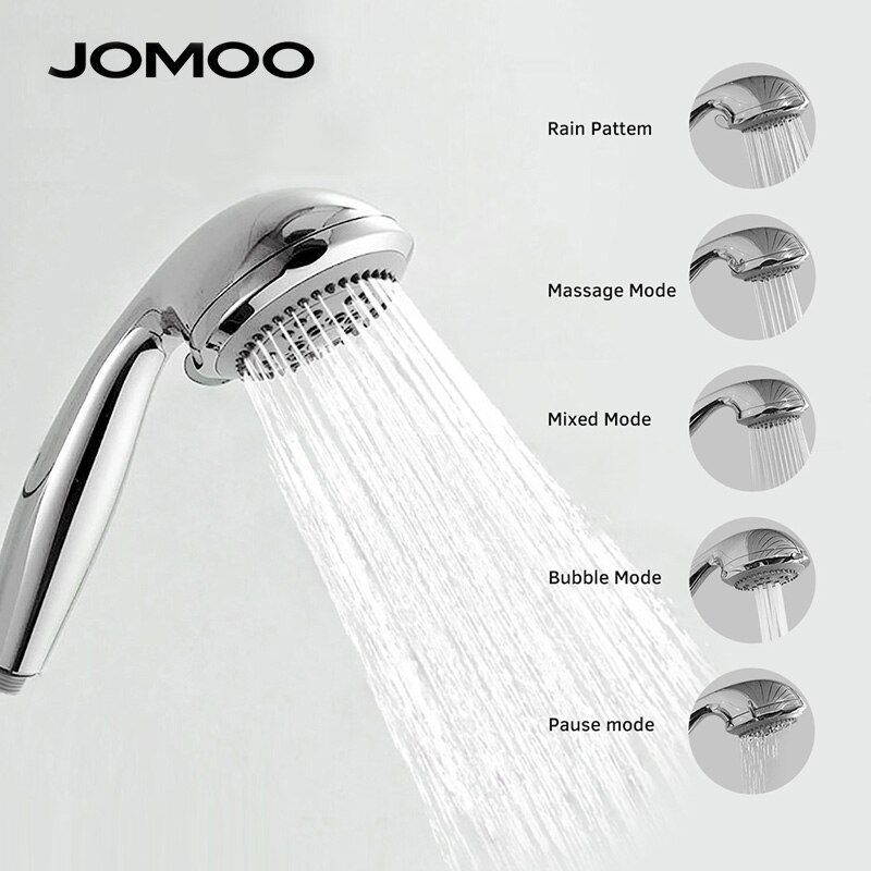 JOMOO Duschkopf ABS Chrom Bad Bad Dusche Wasserspar Hochdruck Runde Form Handbrause 5 Jets 3,5 zoll düse