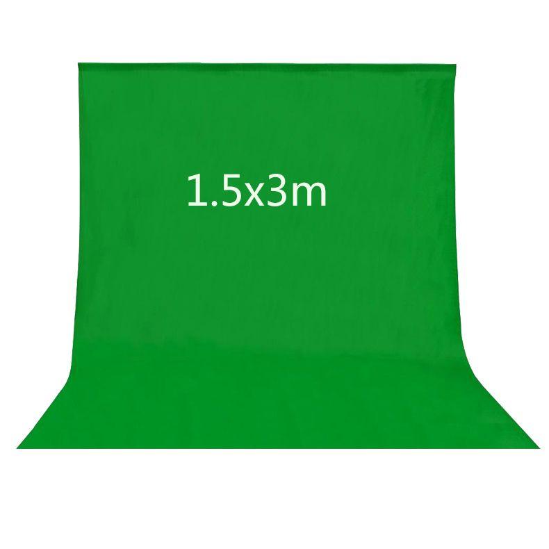 Pantalla de inserción de imagen de 1.5x3 M estudio fotografía Verde 4.9X9.8ft Telón de Fondo para Estudio Fotográfico de iluminación