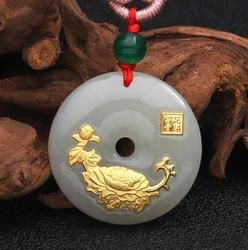2018 New Design Flower Jade Necklace For Unisex Good Quality Best gift Hot Selling Free Shipping