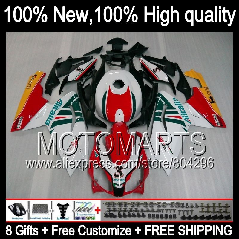 Bodys Red white For Aprilia RS4 125 RS125 06-11 RS 125 6JK4 RSV125 06 07 08 Red blk 09 10 11 2006 2008 2009 2010 2011 Fairing