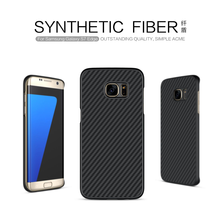 Nillkin Synthetic Fiber Phone case For Samsung Galaxy S7 Edge G935 G935F G935FD Hard Carbon Fiber + PP Plastic Back Cover Case