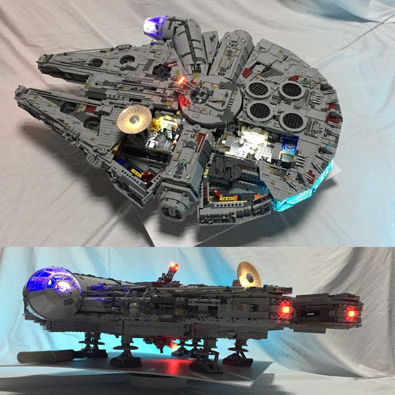 Led light kit for lego 75192 and 05132 Star War Falcon Millennium Building Blocks Model (not include blocks set)