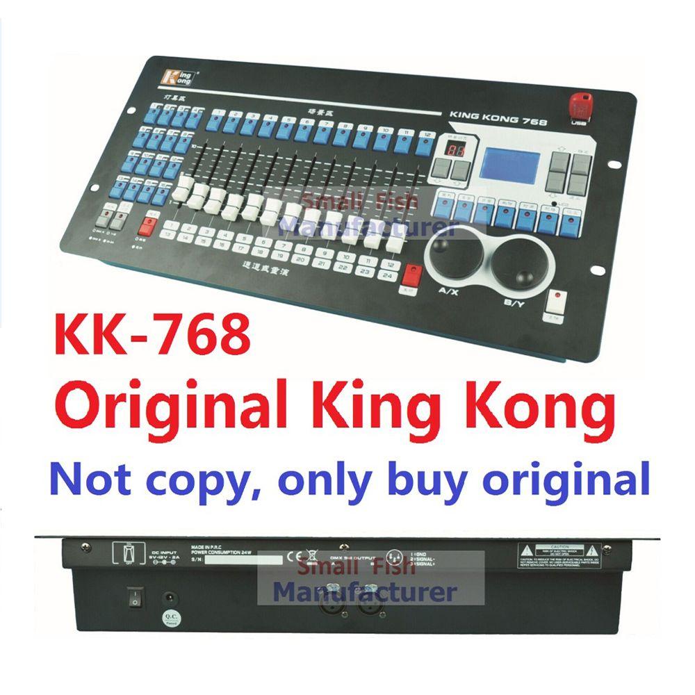 2019 Kingkong KK-768 Professionelle DMX controller 768 DMX kanäle Eingebaute 135 Grafiken Bühne Beleuchtung 512 Dmx Konsole Ausrüstung