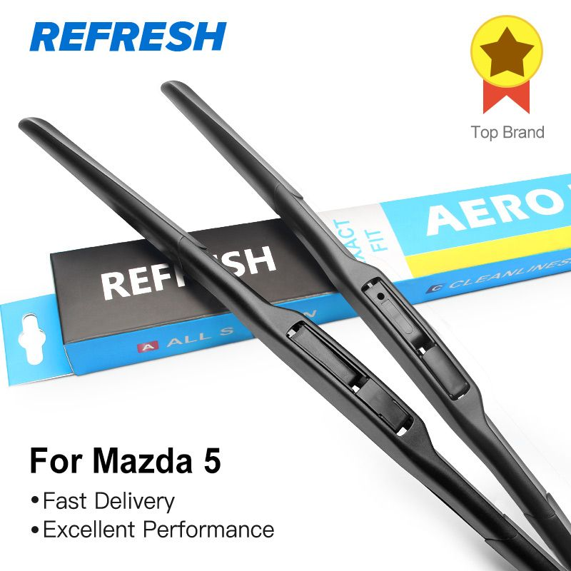 REFRESH Wiper Blades for Mazda 5 MPV  Hook Arms 2005 2006 2007 2008 2009 2010 2011 2012 2013 2014 2015 2016