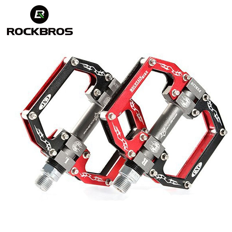 ROCKBROS Ultralight Professional Hight Quality MTB Mountain BMX Bicycle Bike Pedals Cycling Sealed Bearing Pedals Pedal 5 <font><b>Colors</b></font>
