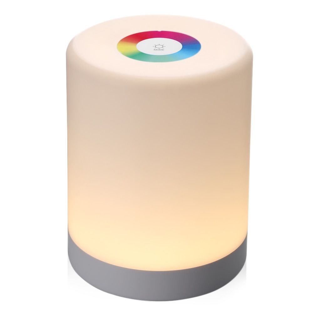 Rechargeable Smart LED Touch Control Night Light Induction Dimmer Intelligent Bedside Lamp <font><b>Dimmable</b></font> RGB Color Change With Hook