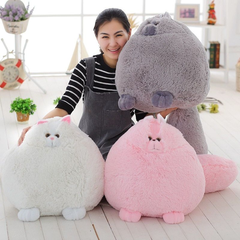 Hot Sale Fat Fluffy Cats Persian Cat Plush Toy Kids Toys Soft Stuffed Animal Peluches Dolls Gift for Girlfriend 1pc 11.8in