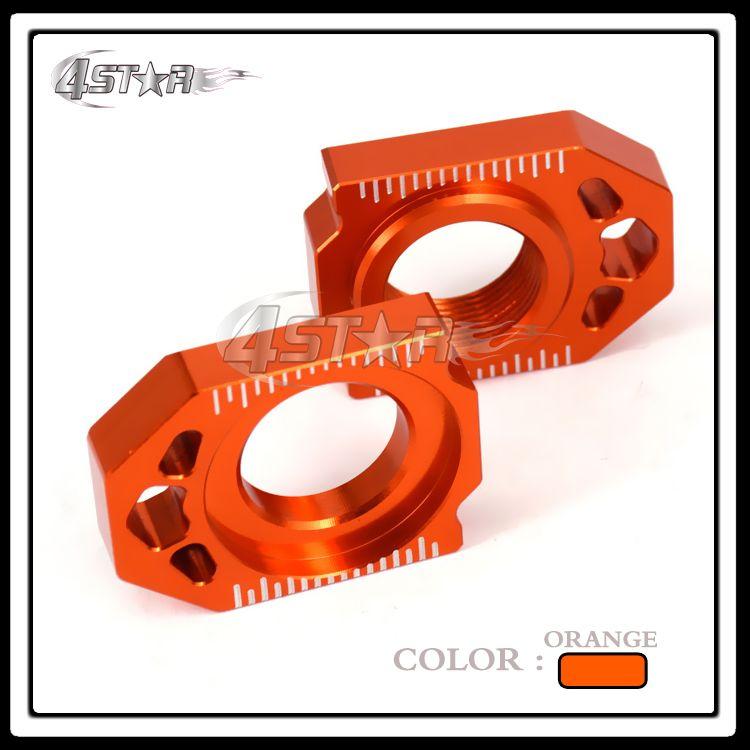 CNC Orange Rear Chain Adjuster Axle Block For KTM SX SX-F XC XC-F 125 250 350 450 530 Motorcycle Dirt Bike Motocross Off Road