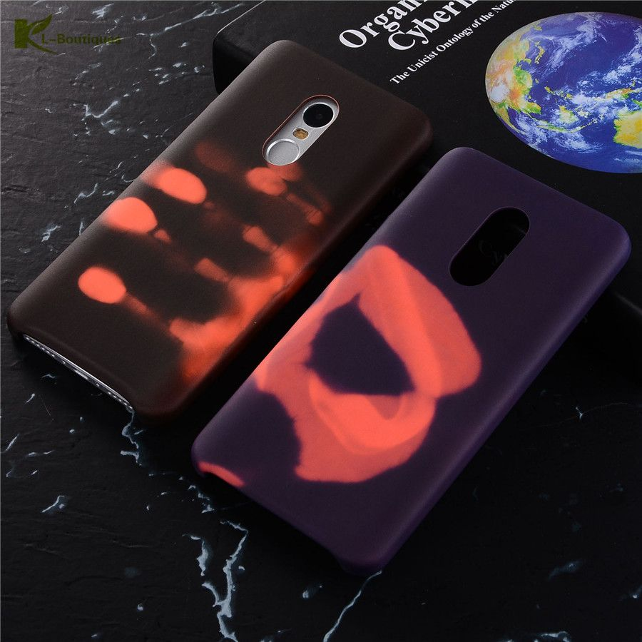 KL-BOUTIQUES Thermische Sensor Fall für Xiaomi Redmi Hinweis 4 3/3 s/3 Pro/3 Prime Cover thermische Verfärbung Lustige Phone Cases
