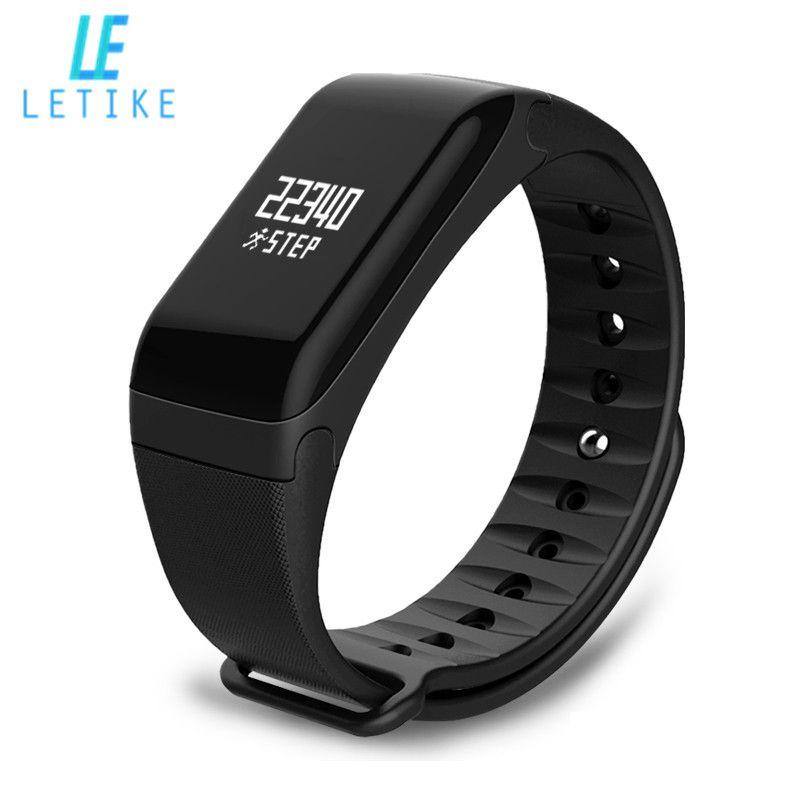 LETIKE F1 Smart Bracelet Wireless Bluetooth Sport Pedometer Fitness Tracker Smart band Sleep Monitor Wristband with spare strap