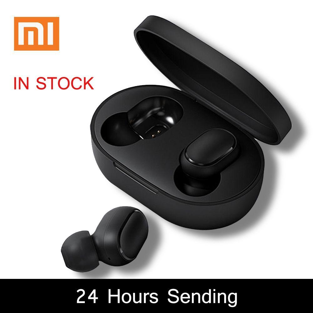 Xiaomi Redmi Airdots 5.0 TWS Bluetooth écouteur DSP annulation de bruit avec boîtier de charge micro mains libres AI contrôle Spots casque
