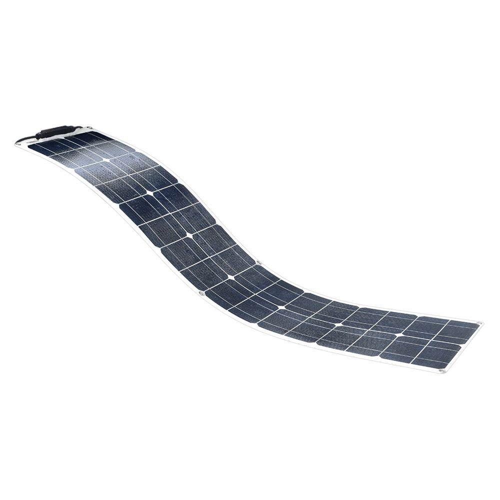 12V 50W Wasser Beständig Korrosion Widerstand ETFE flexible Monokristalline silizium Solar Panel Modul Ladegerät mit MC4 Kabel Clip
