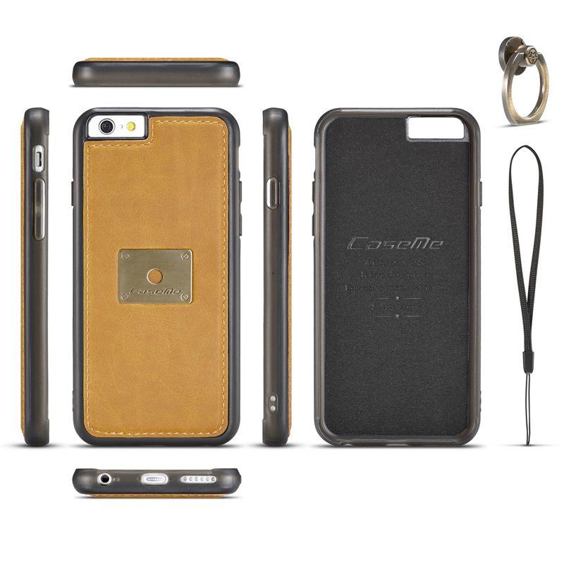 ТПУ кожаный чехол для iPhone 6 Чехол кольцо 6 S Plus 4.7 5.5 дюймов металлический держатель magnetice чехол для Apple iPhone 6 S Чехол 6 plus