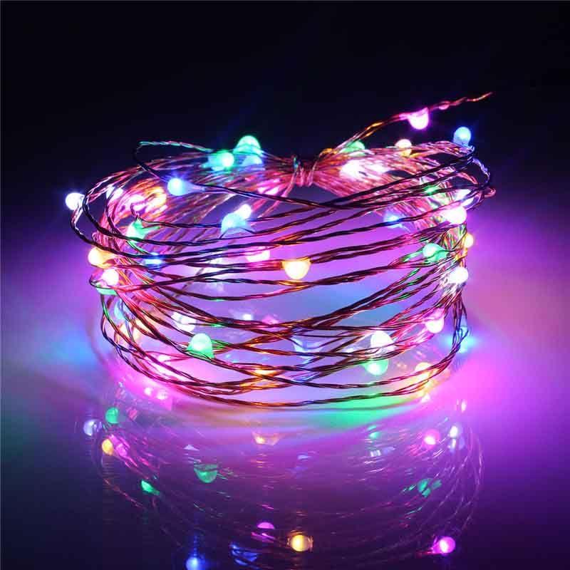 5 Mt Wasserdichte USB Power Betrieben Kupferdraht LED String Licht Fairy Light Weihnachten Home Party Decor RGB Led-streifen lampe