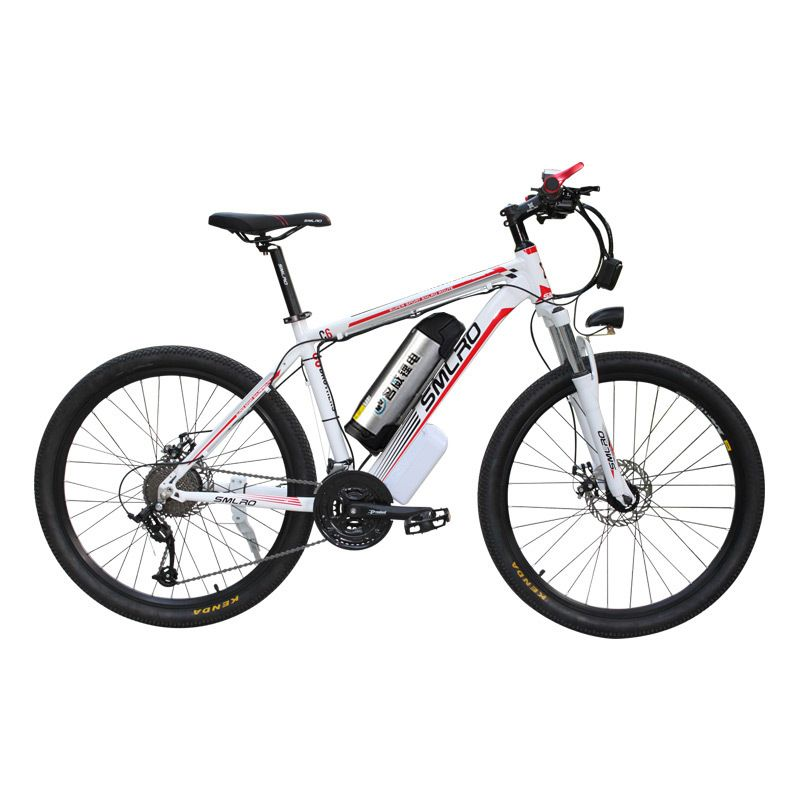 26 pouces vélo électrique de montagne en alliage d'aluminium ebike 27 vitesses e-vtt 48 V batterie au lithium 500 W moteur vélo hybride