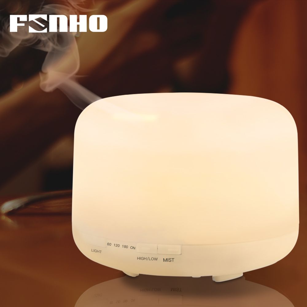 FUNHO 500ml Air Humidifier Aroma Essential Oil Diffuser Aromatherapy Umidificador 7 Color Change LED Night Light for Home 168