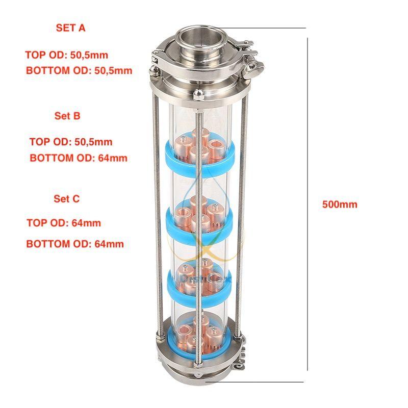NEUE Kupfer blase platten Destillation Spalte mit 4 abschnitt für destillation Glas spalte. Moonshine noch