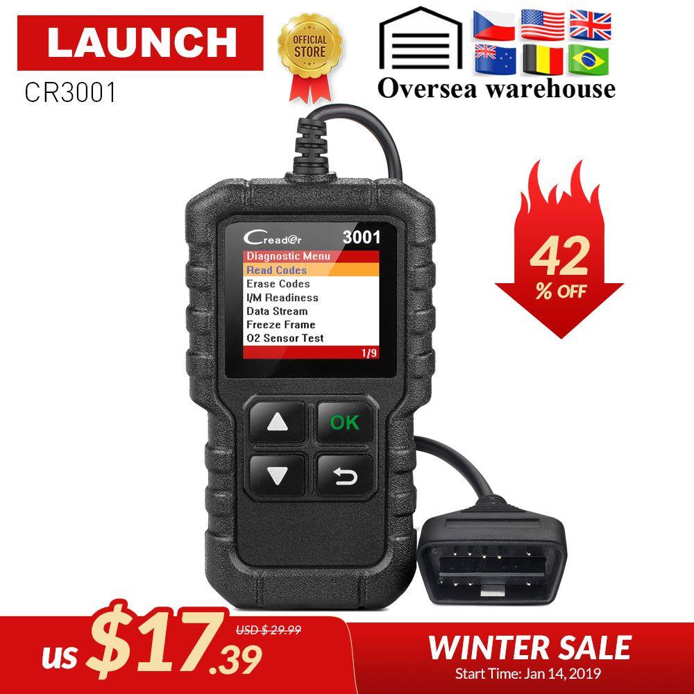 LAUNCH X431 Creader 3001 Full OBD2 OBDII Code Reader Scan tools OBD 2 CR3001 Car Diagnostic tool PK AD310 ELM327 OM123 Scanner