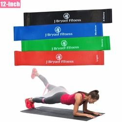 12-inch Thick Resistance Bands 100% Natural Latex Elastic Workout Loop Bands Best For Pilates Yoga Rehab Physical Therapy