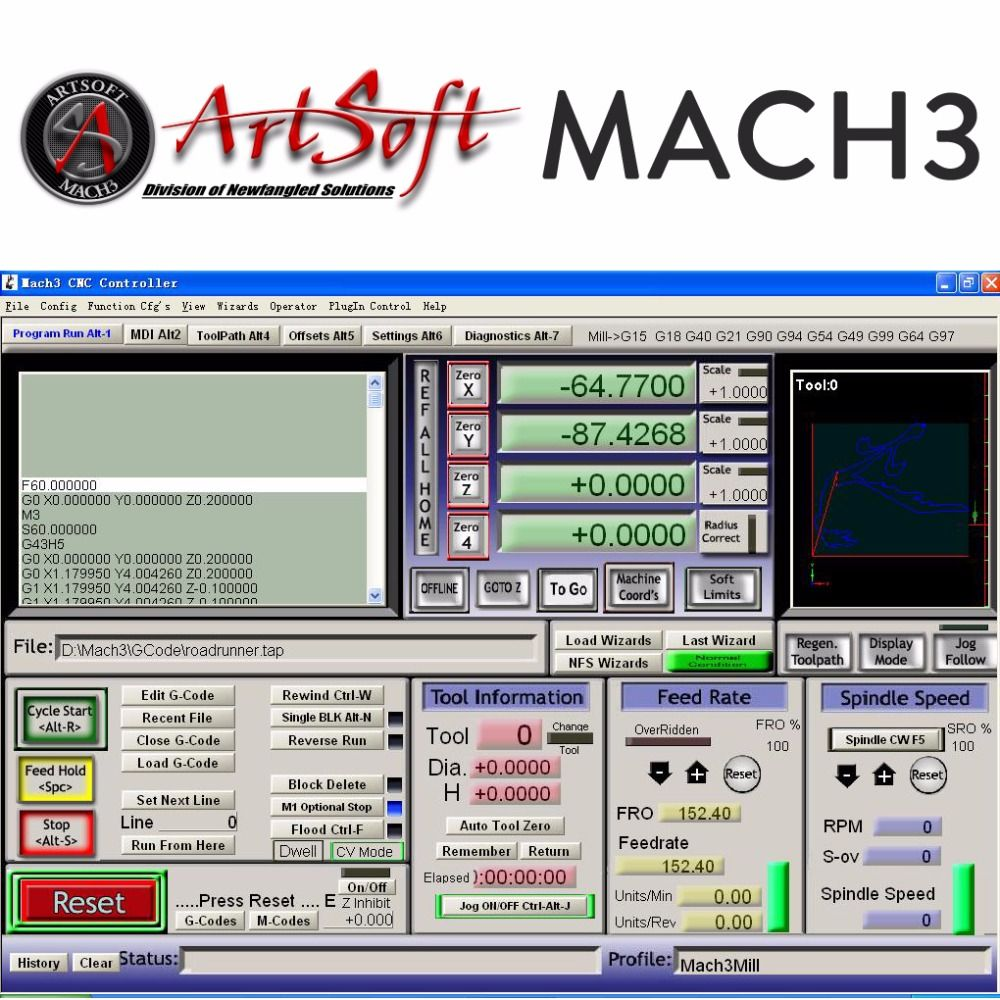 English/French Engraving Control CNC Software Artsoft Mach3 w/ License for Lathes, Mills, Routers, Lasers, Plasma, Engraver