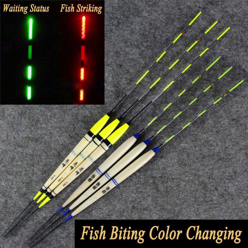 2 STÜCKE Karpfenangeln Nachtfischen Induktive Elektronische Float Leucht Elec Bobbers Driftet Batterie Angelgerät