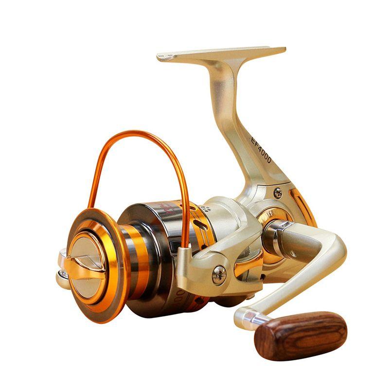 2019 bobine de pêche de filature Gapless 12BB EF1000-7000 5.5: 1 bobine de filature de roue de pêche de carpe en métal pour la pêche de nouveau navire de pêche