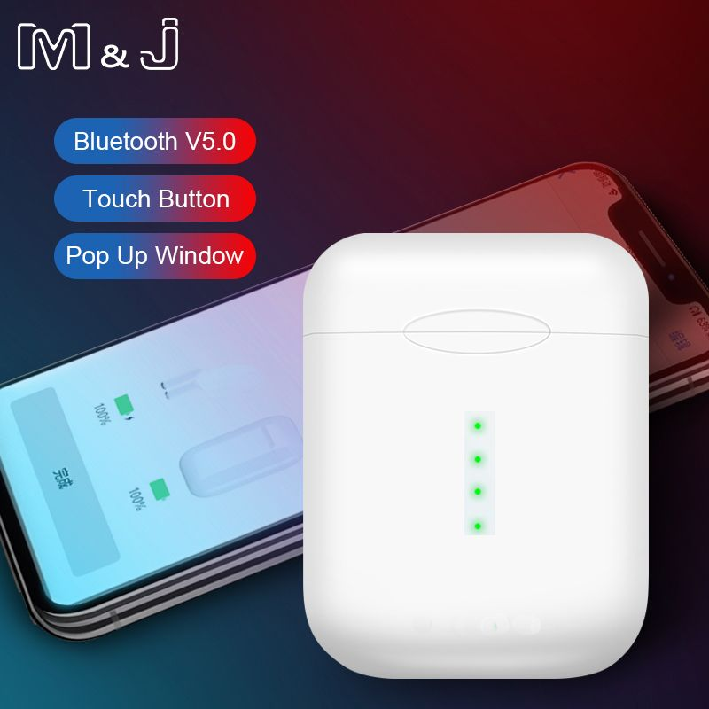 M&J V8 TWS Pop-up Wireless Earphone 6D Super Bass Bluetooth 5.0 Earphones PK i20 i10 TWS i12 tws lk te9 i30 i60 i88 tws