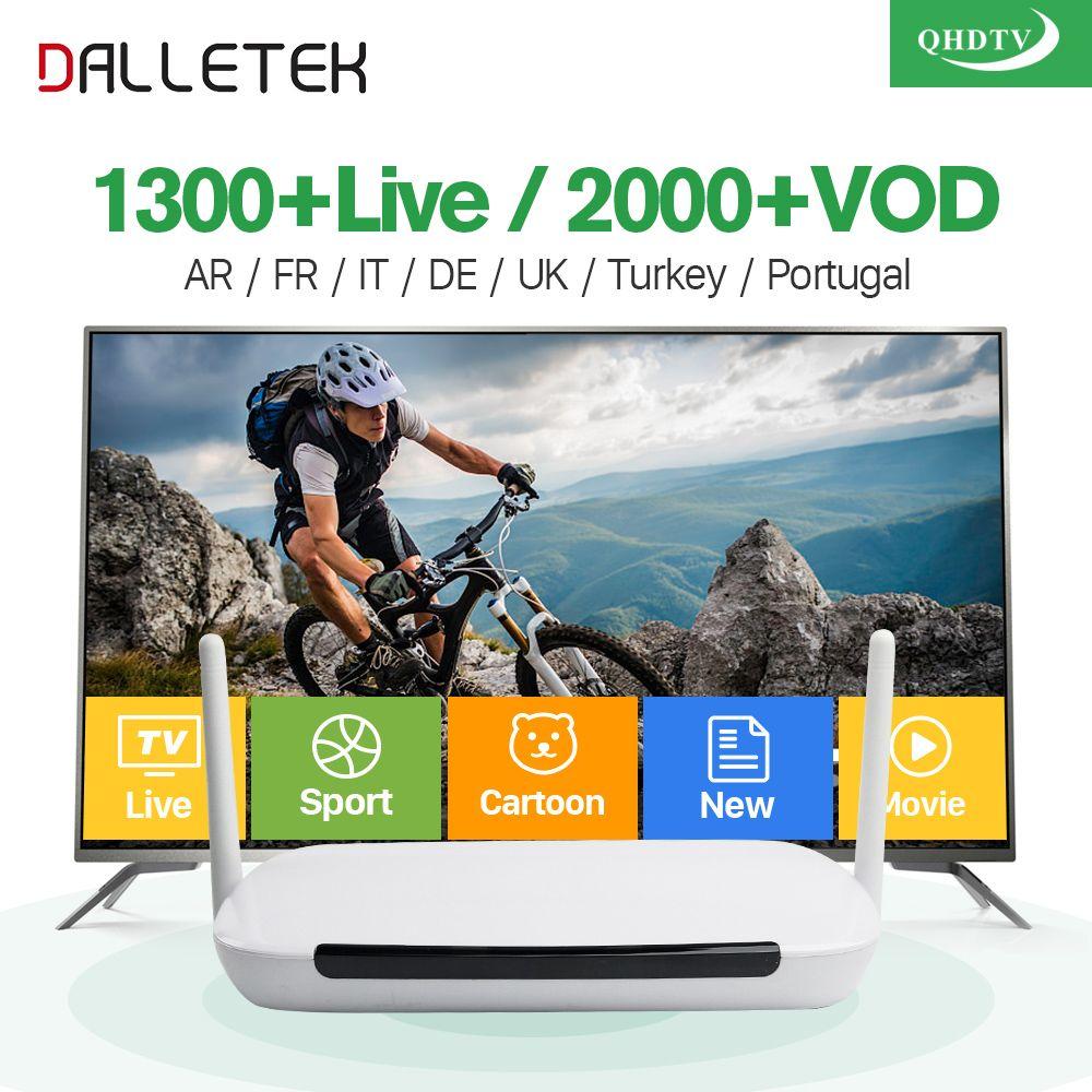 Dalletektv IPTV Arabe Français boîte Android 6.0 Quad Core 1G/8G avec 1 Année QHDTV IPTV Abonnement France Arabe VIP Sport en direct
