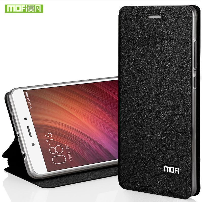 Xiaomi Redmi Note 4 case silicon cover luxury flip Leather global version Mofi Xiaomi Redmi Note 4 pro case hard wallet fundas