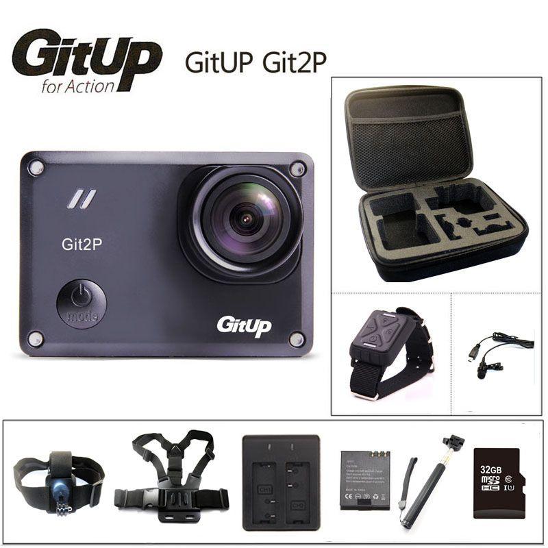 Original GitUP Git2P Action Camera 2K Wifi Sports DV PRO Full HD 1080P 30m Waterproof mini Camcorder 1.5 inch Novatek 96660 Cam