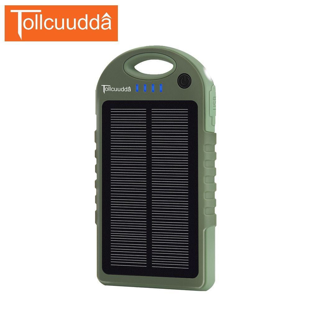 TOLLCUUDDA Newest External 10000mAh Universal Charger Backup Power Bank Portable Battery Pack Outdoor Accessory for Cellphone