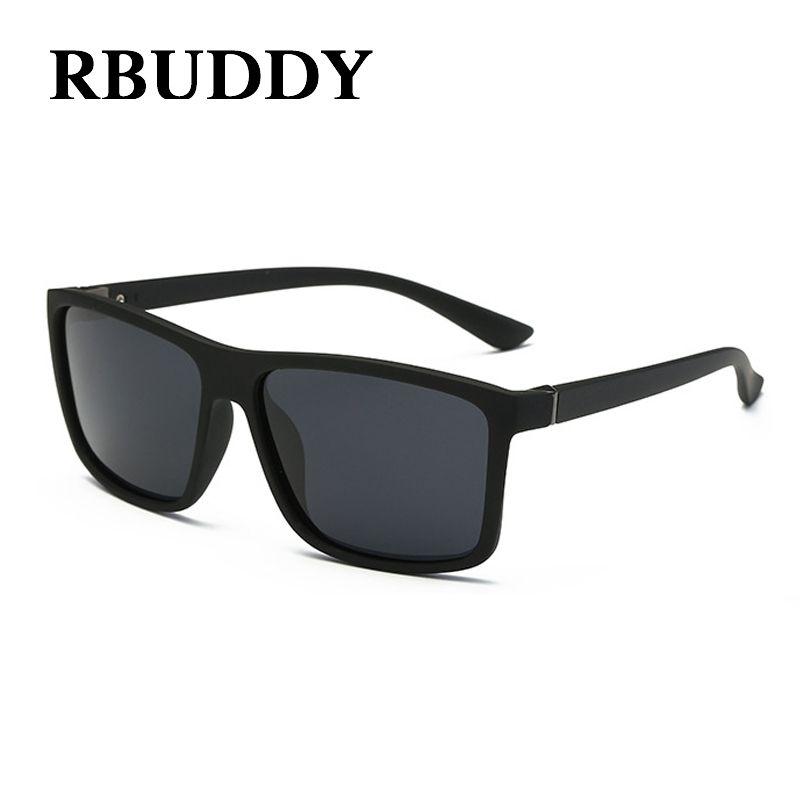 RBUDDY 2017 Поляризованные солнцезащитные очки Мужская защита UV400 Очки водителя Марка Мужские вождения Мужские солнцезащитные очки