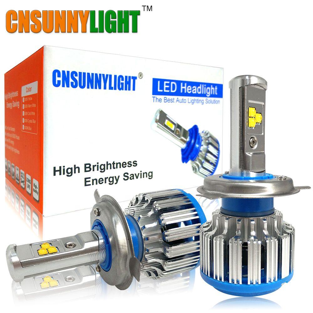 H4 9003 H13 9007/HB5 9004 Kit de phare LED de voiture hi-lo faisceau 8000LM blanc 6000 K remplacer Auto phare ampoule lampe antibrouillard