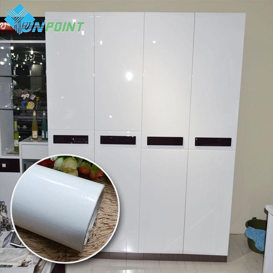 Жемчужно-белый DIY декоративные Плёнки ПВХ, самоклеющаяся бумага стены Мебель обновления Наклейки Кухня кабинет Водонепроницаемый обои