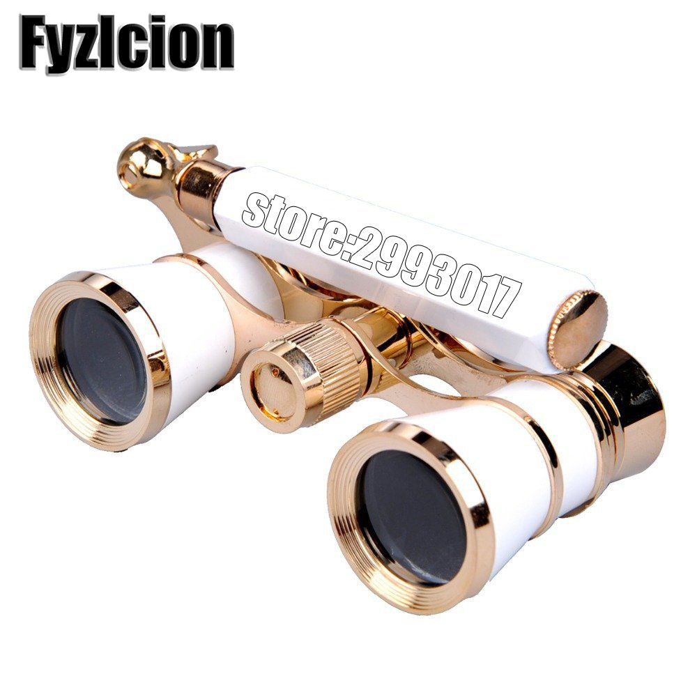 Fyzlcion 3X25 Binocular Telescope Opera Glasses Coated Theater/Opera Glass Lady Glass Handle Telescopio