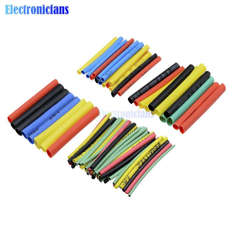 1 satz 328 stücke Polyolefin Auto Elektrische Kabel Rohr kits Schrumpf Schlauch Schläuche Sleeve Wrap Draht Assorted 8 Größen mixed Farbe