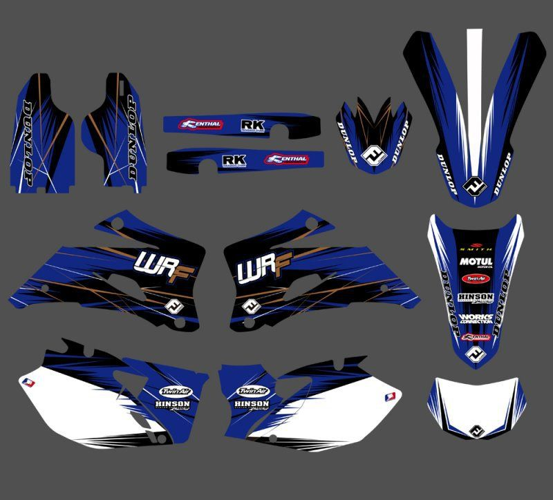 New Style TEAM GRAPHICS&BACKGROUNDS DECALS STICKERS Kits For Yamaha WR250F WR450F 2007 2008 2009 2010 2011 WR 250F 450F