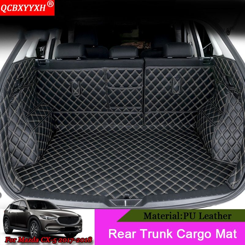 QCBXYYXH Car-styling Car Boot Mat Rear Trunk Liner Cargo Floor Carpet Tray Protector Auto Accessories For Mazda CX-5 2017 2018