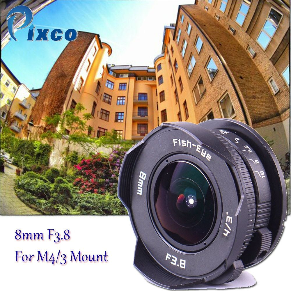 8mm F3.8 fisheye Objectif à monture C Objectif Grand Angle Fish-Eye Pour Micro Four Thirds Caméra M43 pour LUMIX GX8 GX85 G7 E-M5 E-M10II E-PL8