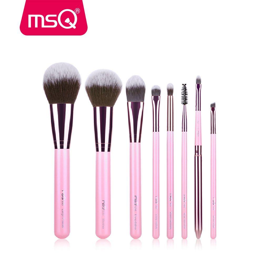 MSQ Nouvelle Arrivée Pinceaux De Maquillage Professionnel Cosmétiques Brosse Ensemble 8 pcs Haute Qualité Brosse à Cheveux Synthétique