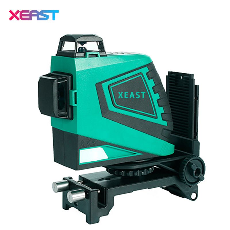 XEAS professional 3D 12Lines Green Laser Levels Self-Leveling 360 Horizontal And Vertical Cross Green Laser Beam Line 532nm,30mw