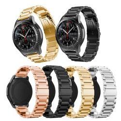 Untuk Samsung Watch Band, stainless Steel Logam Pengganti Sabuk Pergelangan Tangan Tali untuk Samsung Galaxy Gear S2 Klasik R720 R730 SM-R720