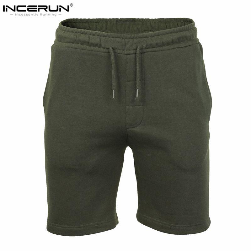 Incerun 2018 diseño sólido llano para hombre Pantalones cortos verano hombres playa Pantalones cortos casual ocio hombre joggers Pantalones cortos Hombre marca ropa 2xl