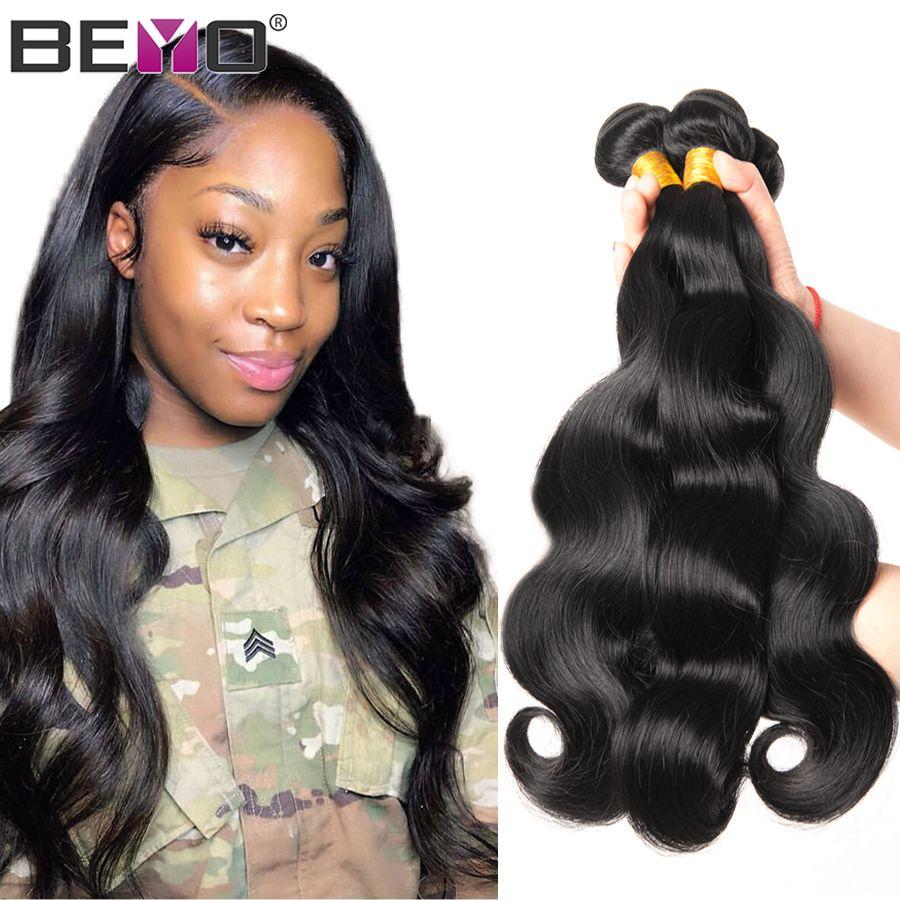Paquets de vague de corps paquets de tissage de cheveux brésiliens couleur naturelle 100% paquets de cheveux humains 1/3/4 paquets offres non-remy cheveux armure Beyo