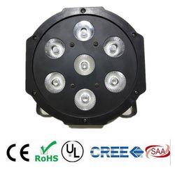 LED par RGBWA UV rgbw 4in1 5in1 6in1 LED DJ DMX 7X12 W 7x18 W 7x15 W LED Plat SlimPar Quad Lumière Aucun bruit