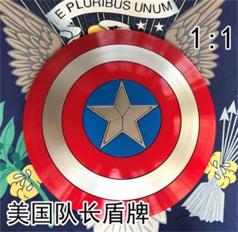 Film Avengers 3 Captain America bouclier 1:1 plein bouclier Cosplay fête hommes Prop fort cadeau maison Art décoration ABS Halloween