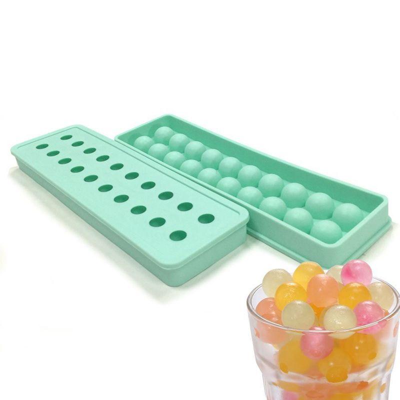 1 pièces 20 trous Silicone boules de glace formes pour crème glacée Silicone glaçons plateaux Silicone plateaux boule fabricant moule Cubes TW-011
