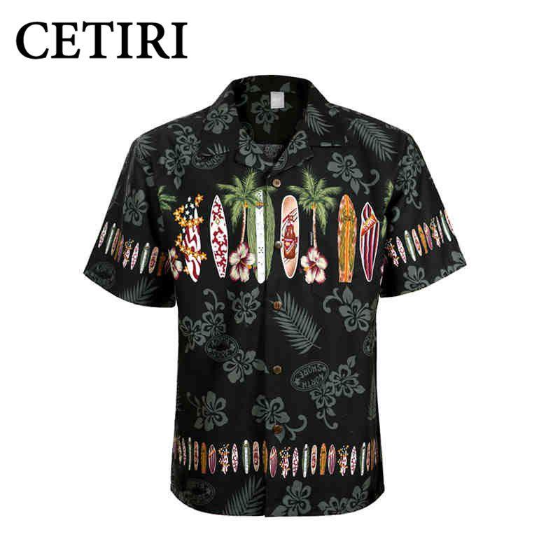 Herren Hawaiihemd Marke Strand Shirt Palm Surfbrett Kostüm Shirts Für Männer Baumwolle Plus Größe Chemise Homme Camisa Palmeiras
